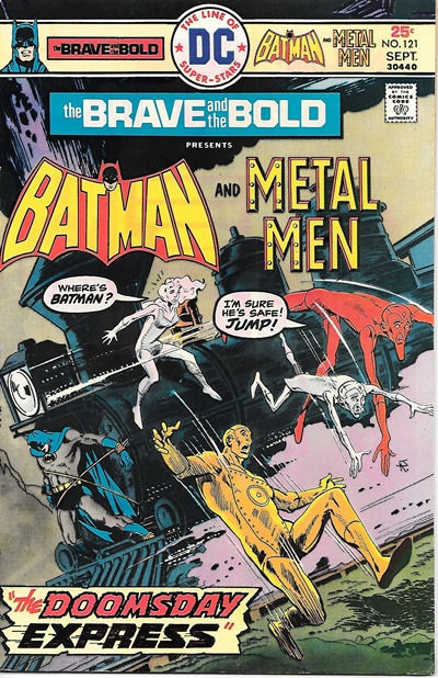 Primary image for The Brave and the Bold Comic Book #121, DC Batman and Metal Men 1975 VERY FINE
