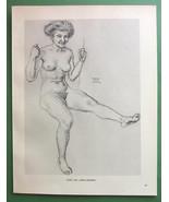 NUDE Lover's Sea-Saw by Franz von Stuck - 1912 Lichtdruck Print - $12.49