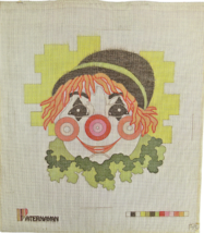Vintage 1970's Hand Painted Needlepoint Paternayan Bright Eyed Cheerful ... - $32.31