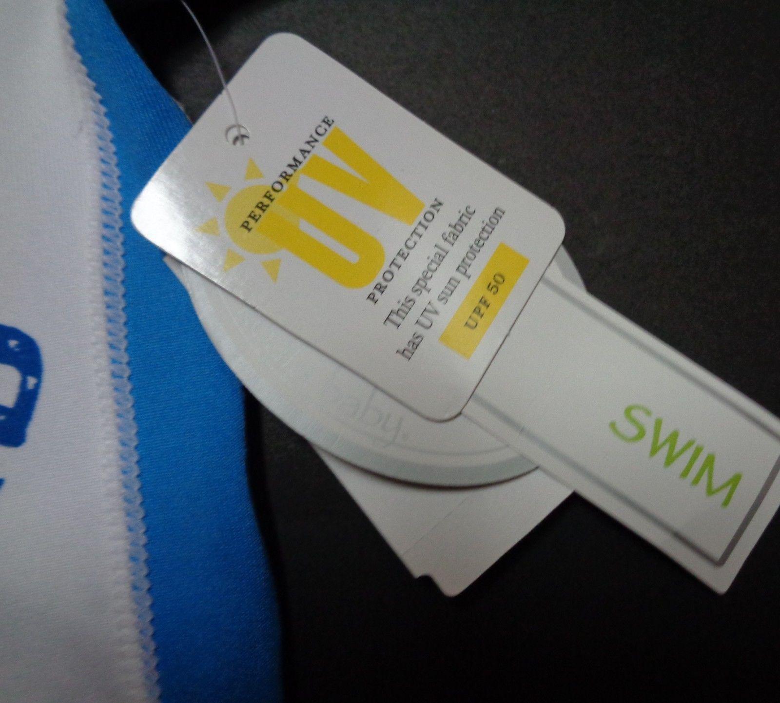 Koala Boys Newborn Swim Shirt NWT LIFEGUARD Short Sleeves UV Protection UPF 50