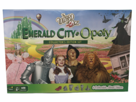 The Wizard Of Oz Emerald City Opoly Board Game Six Wizard of Oz Tokens - $39.99
