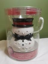 New YANKEE Candle SNOWMAN TART Warmer/Melter 4-SPARKLING CINNAMON Tea Li... - $39.60