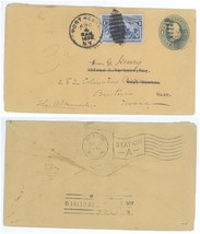 1899 Port Henry NY - West Newton MA Forwarded to Boston #230 Columbian C... - $7.69