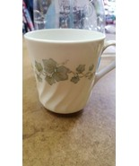 Corning Corelle Callaway Ivy Pattern, Green & White Cup, Made In USA, 3.... - $3.91