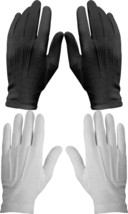 12 Pack Cotton Military Uniform Dress Parade Gloves with Snaps, White or... - $715,75 MXN