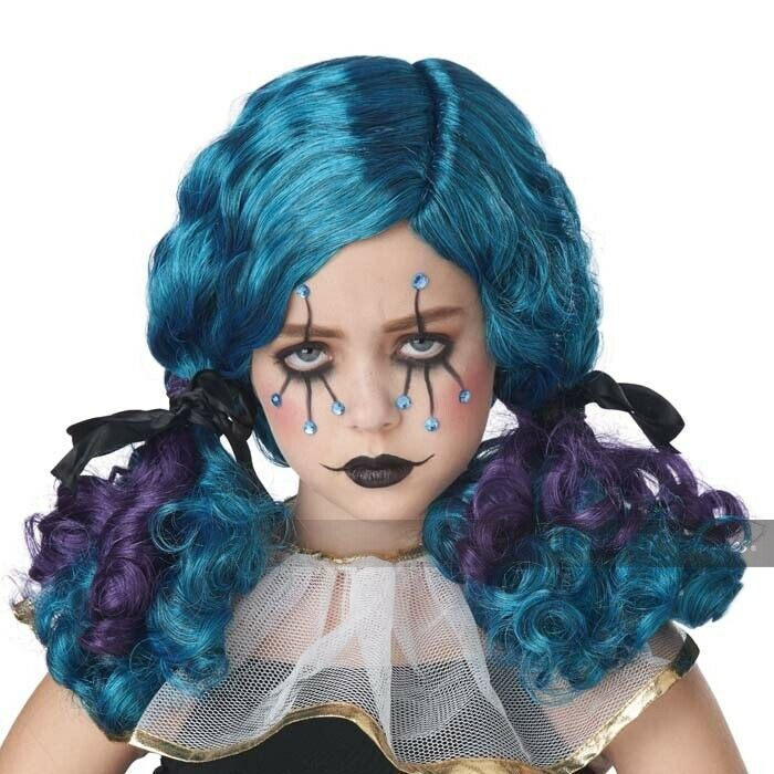 California Costumes Clowny Kid Curls Circus Wig Girl's Halloween Costume 70959 image 2