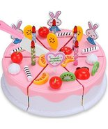 Birthday Cake with Cutting Knife Children Kids Pretend Play Toys 44 Pcs ... - $20.74
