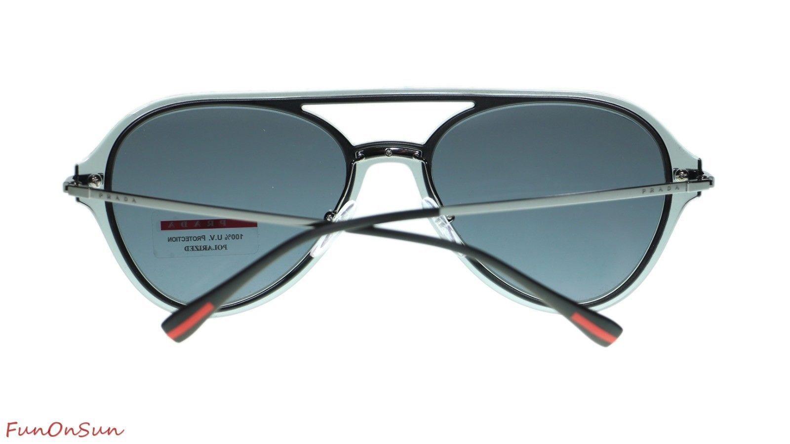 Prada Men Sunglasses PS04TS P2X5Z1 Grey/Polar Grey Polarized Lens 57mm image 4