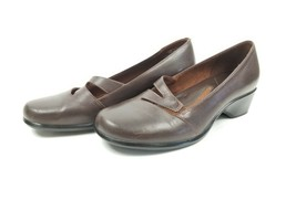 Clarks Artisan Brown Slip On Shoes 7M Womens Comfort Loafers - Free Shipping - $32.18