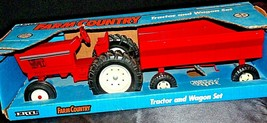 1991 Ertl Farm Country Tractor and Wagon Farm Set in Box AA20-JD2083 - $69.95
