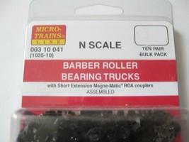 Micro-Trains Stock #00310041  (1035-10) Roller Bearing Trucks Short Couplers image 2