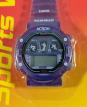 Vintage Sentry sports watch CA222 digital purple new in package. - $14.99
