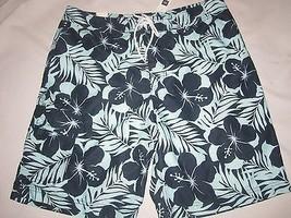 NWT Mens GAP Tropical Blue Swim Trunks Shorts Size S, L - $19.99