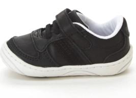 Baby Toddler Boys Surprize by Stride Rite Alec Hook & Loop Sneakers Black White image 2