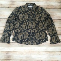 Tommy Hilfiger Women Top Shirt Paisley 100% Cotton Size Large - $14.60