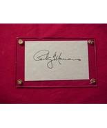 ROCKY MARCIANO  Autographed Signed Signature Cut w/COA - 30682 - $400.00