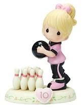 Precious Moments,  Growing In Grace, Age 10, Bisque Porcelain Figurine, ... - $48.43