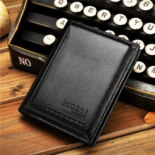 Bogesi casual men s solid wallet painting draw cards short soft men wallets luxury brand male