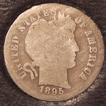 1895-S Silver Barber Dime Low Mintage Scarce Date #0377 - $36.79