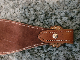 Leather Tooled Bronc Noseband with Conchos and Spots image 3