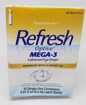 Refresh Optive MEGA-3 Lubricant Eye Drops 30 Single-Use Containers/ Exp ... - $15.49