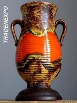 Vintage 60-70's DUMLER&BREIDEN Art Deco Style Vase West German Pottery F... - $19.79