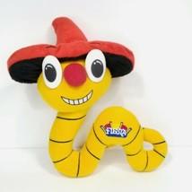 Tequila Worm Yellow Red Hat Plush Big Eyes Nose Fiesta Casino Stuffed An... - $24.74