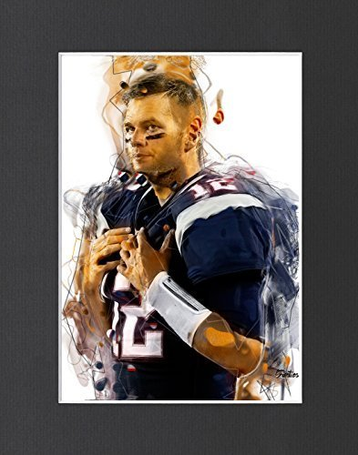 "Tom Brady - New England Patriots #1 Exclusive Artwork by ""Fantics"" 8x10 Matted t"