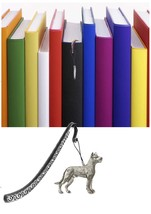 Great Dane Pewter Emblem on a Pattern bookmark for books organisers code... - $13.10