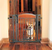 Carlson Design Studio Metal Walk-Thru Gate with Pet Door - $89.99