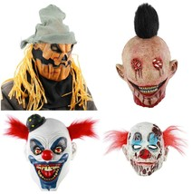 Halloween Horror Sorcerer Clown Zombie Mask Haunted House Party Masquera... - £12.33 GBP+