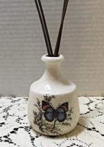 Vintage Butterfly Design Ceramic Reed Oil Scent Dispenser Retro Bud Vase - $10.00
