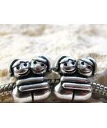 Hugging Sisters Large Hole Charm Bead for All European Charm Bracelets 2PCs - $17.82