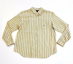 Women's Ralph Lauren Yellow, Blue & White Striped Button Down Blouse Shi... - $21.70