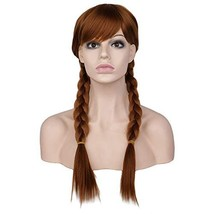 BARSDAR 22'' Double Long Braided wigs Full Head for Cosplay Halloween Da... - $24.81