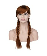 BARSDAR 22'' Double Long Braided wigs Full Head for Cosplay Halloween Da... - $18.72