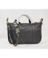 Michael Kors Raven Grommet Large Leather Satchel/Shoulder bag in Black - $219.00