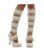 STORE CLOSING!  MUMMY BOOTS Size 9 Egyptian Zombie Gauze Tape Heels Sexy... - $15.34
