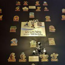 Original RARE NUMBERED Coca Cola WALT DISNEY WORLD 15th Birthday Framed Pin Set image 4