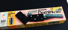 Vtg 1970 Wooden  Dragon Dominoes Milton Bradley Double Six  #4130 Original Box - $8.68