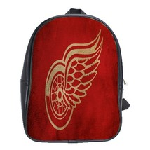 Backpack School Bag The Detroit Red Wings Logo Ice Hockey Sports Team Michigan F - $33.00