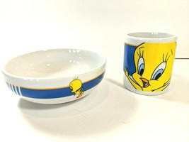 Looney Tunes By Gibson Warner Brothers Set Tweety Bird Cereal Bowl Plate... - $18.76