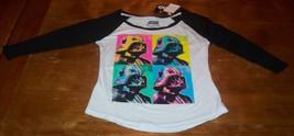 WOMEN'S TEEN STAR WARS DARTH VADER POP ART T-shirt XS NEW w/ TAG - $19.80