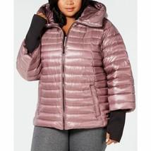 Calvin Klein Womens Plus Size Down Puffer Jacket Metallic Rosewood Size 1X - $159.00