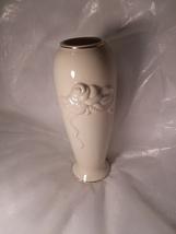 Vintage Lenox Ivory Rose Bud Vase With Gold Trim  - $10.00