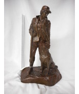 "Bronze Hunting Dog and Man Sculpture ""Sunrise"" by Mark Hopkins 450/2500 - $985.05"