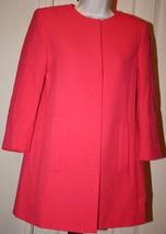 Zara Basic Collection Pink Coral Women's Swing Above Knee Jacket Blazer Sz 4? - $89.99
