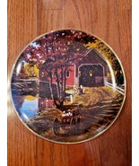 """Franklin Mint Heirloom - 8"""" Plate - Limited Edition - The Covered Old Br... - $11.99"""
