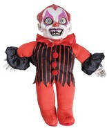 Haunted Clown Doll Prop Creepy Phrases Scary Halloween Decoration Party ... - $25.83 CAD