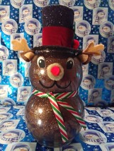 Handmade Glass Christmas Rudolph - $38.26